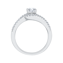 Load image into Gallery viewer, 14K White Gold Round Cut Diamond Promise Engagement Ring