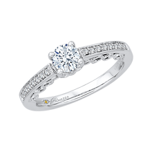 Load image into Gallery viewer, Round Diamond Engagement Ring In 14K White Gold