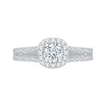 Load image into Gallery viewer, PR0069EC-02W Bridal Jewelry Carizza White Gold Round Diamond Halo Engagement Rings