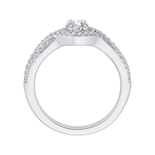 Load image into Gallery viewer, PR0077EC-44W-.50 Bridal Jewelry Carizza White Gold Round Diamond Engagement Rings