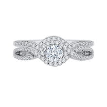 Load image into Gallery viewer, Round Diamond Engagement Ring With Split Shank In 14K White Gold