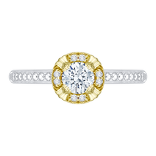 Load image into Gallery viewer, PR0080EC-44WY Bridal Jewelry Carizza White Gold Rose Gold Yellow Gold Round Diamond Engagement Rings