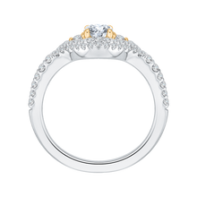 Load image into Gallery viewer, 14K Two Tone Gold Round Diamond Engagement Ring