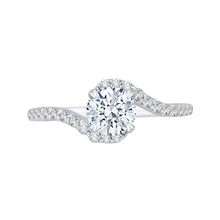 Load image into Gallery viewer, PR0092ECH-44W Bridal Jewelry Carizza White Gold Round Diamond Engagement Rings