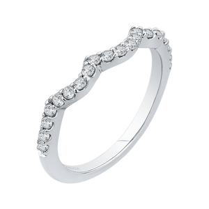 Round Diamond Wedding Band In 14K White Gold
