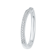 Load image into Gallery viewer, 14K White Gold Round Diamond Wedding Band