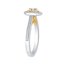 Load image into Gallery viewer, 14K Two Tone Gold Round Diamond Vintage Engagement Ring