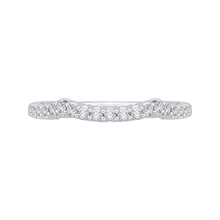 Load image into Gallery viewer, PR0146BH-44W-.25 Bridal Jewelry Carizza White Gold Round Diamond Wedding Bands