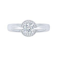 Load image into Gallery viewer, PR0158EC-44W-.50 Bridal Jewelry Carizza White Gold Round Diamond Halo Engagement Rings