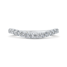 Load image into Gallery viewer, PR0173B-44W-.75 Bridal Jewelry Carizza White Gold Round Diamond Wedding Bands