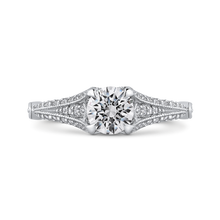 Load image into Gallery viewer, PR0175ECH-44W.75 Bridal Jewelry Carizza White Gold Vintage Round Diamond Engagement Rings
