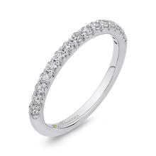 Load image into Gallery viewer, 14K White Gold Round Diamond Half Eternity Wedding Band