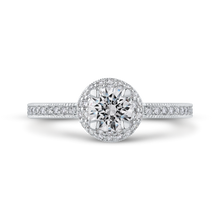 Load image into Gallery viewer, PR0177ECH-44W-.50 Bridal Jewelry Carizza White Gold Round Diamond Engagement Rings