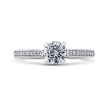 Load image into Gallery viewer, PR0184ECQ-44W-.75 Bridal Jewelry Carizza White Gold Round Diamond Engagement Rings