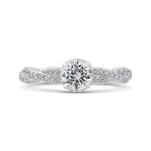 Load image into Gallery viewer, PR0192ECQ-44W-.75 Bridal Jewelry Carizza White Gold Round Diamond Engagement Rings