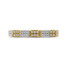 Load image into Gallery viewer, PR0194BH-44WY-.75 Bridal Jewelry Carizza White Gold Rose Gold Yellow Gold Round Diamond Wedding Bands