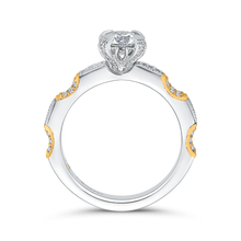 Load image into Gallery viewer, Round Cut Diamond Engagement Ring In 14K Two Tone Gold