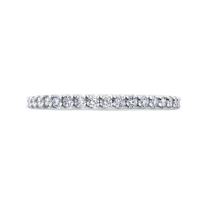 PR0200BQ-44W-.75 Bridal Jewelry Carizza White Gold Round Diamond Wedding Bands