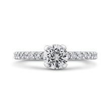 Load image into Gallery viewer, PR0200ECQ-44W-.75 Bridal Jewelry Carizza White Gold Round Diamond Engagement Rings