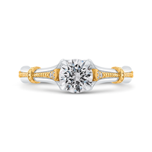 Load image into Gallery viewer, PR0206ECH-44WY-.75 Bridal Jewelry Carizza White Gold Rose Gold Yellow Gold Round Diamond Engagement Rings