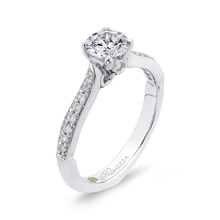 Load image into Gallery viewer, 14K White Gold Round Ct Diamond Engagement Ring