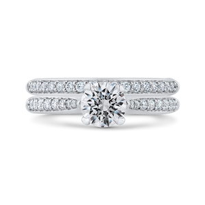 14K White Gold Round Ct Diamond Engagement Ring