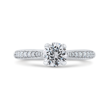 Load image into Gallery viewer, PR0207ECH-44W-.75 Bridal Jewelry Carizza White Gold Round Diamond Engagement Rings