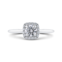 Load image into Gallery viewer, PR0208EC-44W-.50 Bridal Jewelry Carizza White Gold Round Diamond Halo Engagement Rings