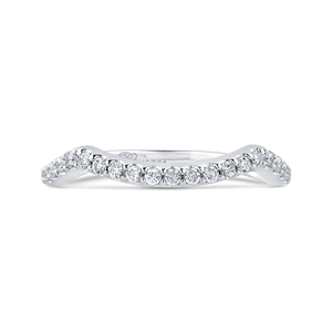 PR0209BQ-44W-.75 Bridal Jewelry Carizza White Gold Round Diamond Wedding Bands