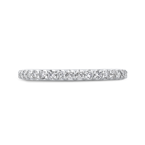 PR0226BH-44W-.50 Bridal Jewelry Carizza White Gold Round Diamond Wedding Bands