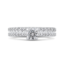 Load image into Gallery viewer, Round Cut Diamond Engagement Ring In 14K White Gold