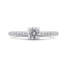 Load image into Gallery viewer, PR0226ECH-44W-.50 Bridal Jewelry Carizza White Gold Round Diamond Engagement Rings