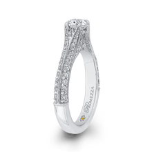 Load image into Gallery viewer, Round Cut Diamond Engagement Ring In 14K White Gold with Split Shank