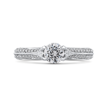 Load image into Gallery viewer, PR0234ECH-44W-.50 Bridal Jewelry Carizza White Gold Round Diamond Engagement Rings