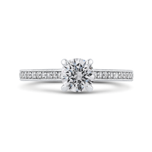 Load image into Gallery viewer, PR0235ECQ-44W-.75 Bridal Jewelry Carizza White Gold Round Diamond Engagement Rings
