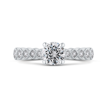 Load image into Gallery viewer, PR0248ECH-44W-.75 Bridal Jewelry Carizza White Gold Round Diamond Engagement Rings