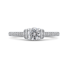 Load image into Gallery viewer, PR0252ECH-44W-.50 Bridal Jewelry Carizza White Gold Round Diamond Engagement Rings