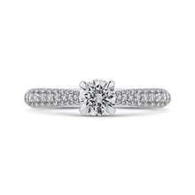Load image into Gallery viewer, PR0254ECH-44W-.50 Bridal Jewelry Carizza White Gold Round Diamond Engagement Rings