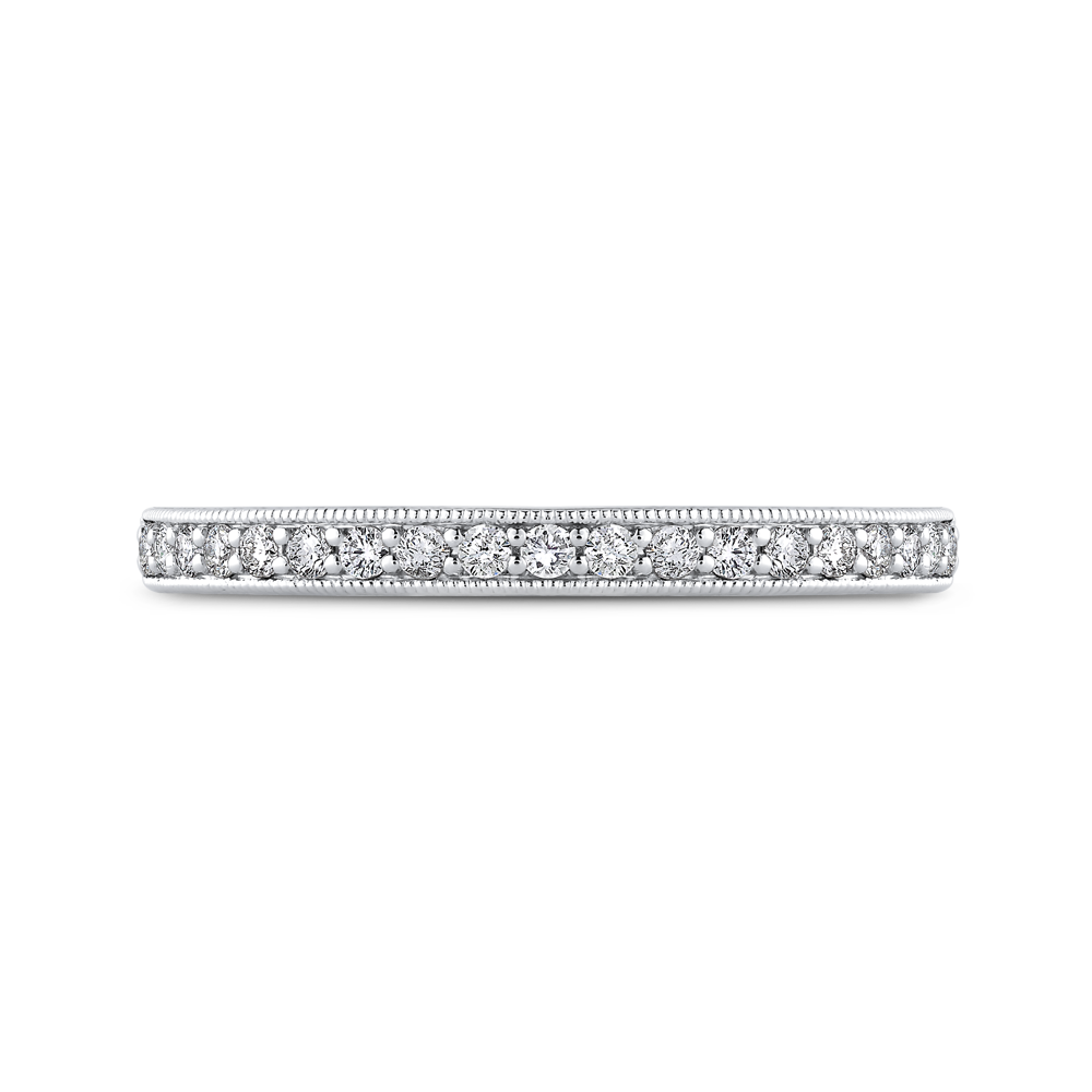 PR0256BH-44W-.50 Bridal Jewelry Carizza White Gold Round Diamond Wedding Bands