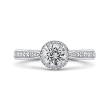Load image into Gallery viewer, PR0256ECH-44W-.50 Bridal Jewelry Carizza White Gold Round Diamond Halo Engagement Rings
