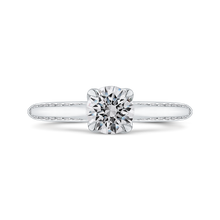 Load image into Gallery viewer, PR0258EC-44W-.75 Bridal Jewelry Carizza White Gold Round Diamond Engagement Rings