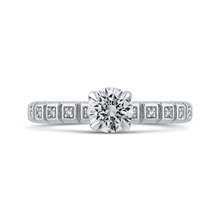 Load image into Gallery viewer, PR0259EC-44W-.75 Bridal Jewelry Carizza White Gold Round Diamond Engagement Rings