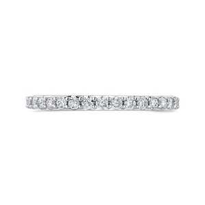 PR0261BH-44W-.50 Bridal Jewelry Carizza White Gold Round Diamond Wedding Bands