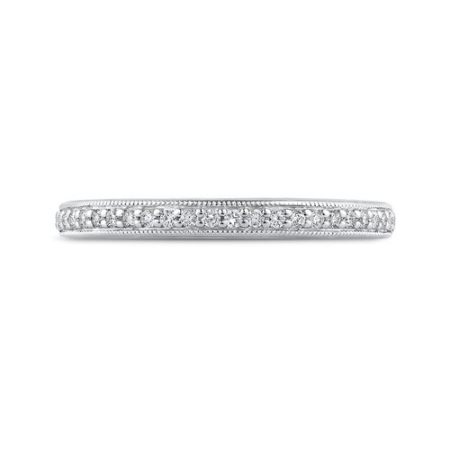 PR0264BH-44W-.75 Bridal Jewelry Carizza White Gold Round Diamond Wedding Bands