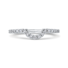 Load image into Gallery viewer, PRA0251BQ-44W-.75 Bridal Jewelry Carizza White Gold Round Diamond Wedding Bands