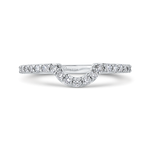 PRA0251BQ-44W-.75 Bridal Jewelry Carizza White Gold Round Diamond Wedding Bands