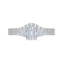 Load image into Gallery viewer, Emerald Cut Diamond Engagement Ring In 14K White Gold