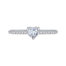 Load image into Gallery viewer, PRH0159ECH-44W.50 Bridal Jewelry Carizza White Gold Vintage Diamond Engagement Rings