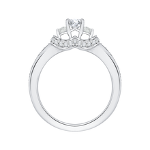 Load image into Gallery viewer, 14K White Gold Oval Diamond Three Stone Engagement Ring