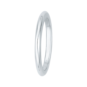 14K White Gold Plain Wedding Band